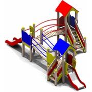 Уличный спортивно-игровой комплекс Городок для детей 3-6 лет фото