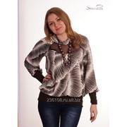 Блуза 1591 Коричневый цвет фото