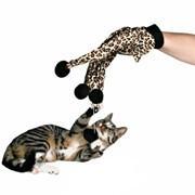 Игровая перчатка с помпонами Trixie фото