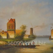 "Картина ""Старые голландские улочки"" 51х61 фото"