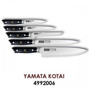Набор кухонных ножей Yamata-Kotai Mikadzo-SET - 5 ножей и деревянная подставка фото