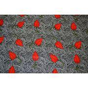 """Плательно - блузочная ткань """" Красные листья"""""""