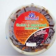 Салат из морской капусты с морковью по-корейски в масле фото