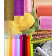 Тканевая упаковка для оформления цветов и подарков фото