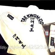 """Кимоно/Униформа для Таэквондо """"ИТФ""""рубашка, Вышивка (Taekwondo – ITF) 6.5 унций фото"""