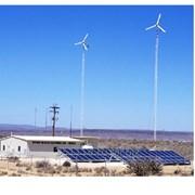 Строительство ветросолнечной электростанции фото