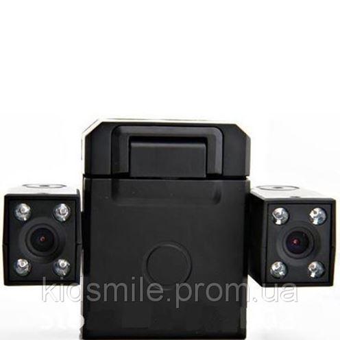 Автомобильный видеорегистратор на 2 камеры Two Camera Car DVR -системы видеонаблюдения