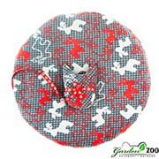 Лежак коврик M круглый с оленями+игрушка 50*50см фото