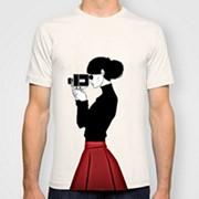 Прямая печать на белой футболке до 10 шт. фото