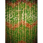 Шторы разноцветные из бамбуковых палочек и лепестков (90*200) 8616 56309 фото