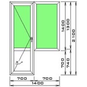 Малый балконный блок ПВХ фото
