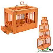 Клетка РЕТРО-КАНТРИ для птиц мини деревянная клен фото