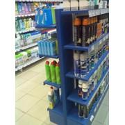 Монтаж стеллажей для аптечных супермаркетов фото