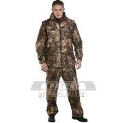 Костюм демисезонный Тайга-3, куртка, брюки, жилет, тк. мембранная, цв. КМФ фото
