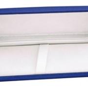 Бархатный футляр для 1 ручки или набора синий фото