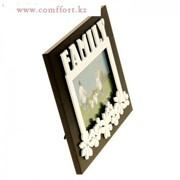 Фоторамка Семья с цветами 10х15 см фото