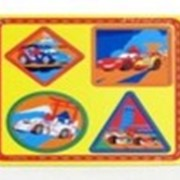 Дер.игрушка Играем вместеDISNEY Тачки пазл-геометрик рамка-вкладыш,RV-GEO-CAR фото