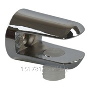 Полкодержатель для стекл. полок Firmax, H=8 мм, цинк, хром фото