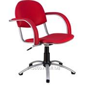 Парикмахерское кресло Астра пневматическое хром фото
