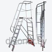 Лестница с платформой 5 ступеней Vario компакт 833006 фото
