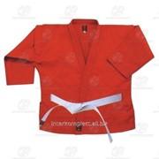Куртка самбо красная, рост 150 фото