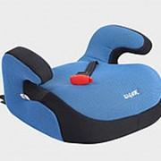 """Детское автомобильное кресло SIGER """"Бустер FIX"""" синий, 6-12 лет, 22-36 кг, группа 3 фото"""