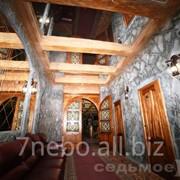 Зеркальный натяжной потолок. фото