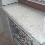 Бежевый подоконник из мрамора. Материал: Крема Нова (Турция) фото