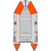 Моторная четырехместная Лодка Kolibri КМ-330 серо-оранжевая Стандарт серии + слань-книжка фото