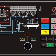 Мнемосхема и органы управления системы управления для одно компрессорного агрегата Лайнкул фото