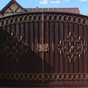 Ворота глухие фото