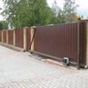 Ворота откатные 4000х2100 под профлист фото