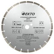 Диск алмазный отрезной EKTO сегментный 300х2,6х25,4 мм, арт. CD-006-300-026 фото