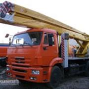 Автогидроподъемник ВС-22.06 (двухколенный) на шасси КамАЗ-43253 (4x2) фото