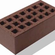 Кирпич керамический лицевой объемного окрашивания цвет Шоколад фото