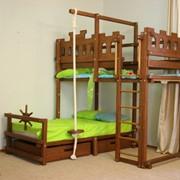 Детская игровая кровать угловая Abra-Kids