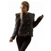 Куртка черная B4308 фото