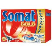Таблетки для посудомоечных машин Somat Голд 22 шт (9000100930598) фото