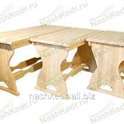 Стол с резьбой (1500x600x760 мм), кедр фото
