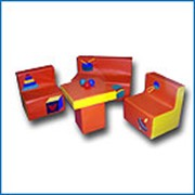 Детская игровая мебель - пуфик Волна, раскладной фото