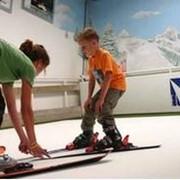 Обучение катанию на горных лыжах фото