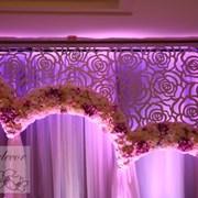 Цветочное обрамление арки фото