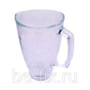 Чаша (емкость) стеклянная блендера Braun 1750ml 64184642. Оригинал фото