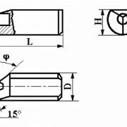 Вставки цилиндрические для прямого крепления в борштангах и оправках с режущим элементом из АСПК («Карбонадо») и Композита-01 (Эльбора-Р) ИС-218 фото