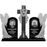 Памятники из гранита двойные габбро (Образцы №419) фото