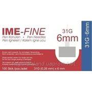 Игла ИМЕ-ФАЙН ( IME-FINE ) для шприц-ручек 31G*6mm фото