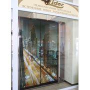 «Ночной город», фотопечать на зеркале. Изготовление шкафов-купе на заказ, Николаев, Херсон, Одесса