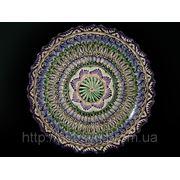 Ляган с ажурными краями. Узбекская посуда. d~32. фото