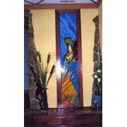 Витражи, роспись на стекле фото