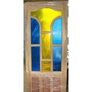 Витраж на дверь— Скромность. фото